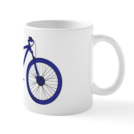Dark Blue Mountain Bike Mugs