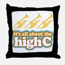 Funny High C Trumpet Throw Pillow
