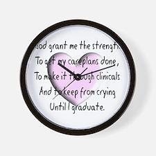 Nursing Student Wall Clock