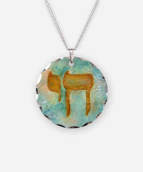 JEWISH HEBREW LETTER L'CHAYIM Necklace