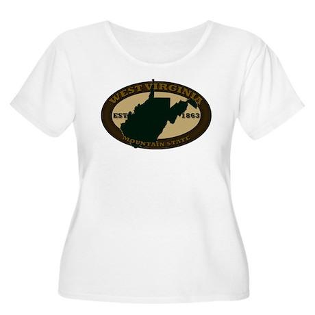 West Virginia Est. 1863 Women's Plus Size Scoop Ne