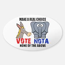 Vote None of the Above Sticker (Oval)
