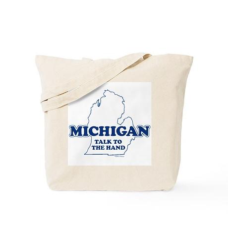 "Michigan ""Talk to the Hand"" Tote Bag"