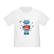 Robot 4th Birthday T