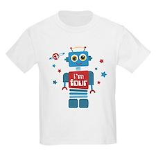 Robot 4th Birthday T-Shirt