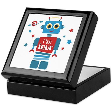 Robot 4th Birthday Keepsake Box