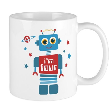 Robot 4th Birthday Mug