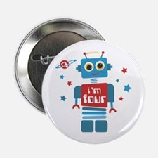 "Robot 4th Birthday 2.25"" Button"