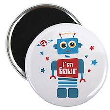 Robot 4th Birthday Magnet