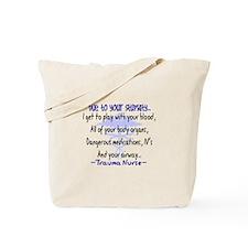Trauma Nurse Tote Bag