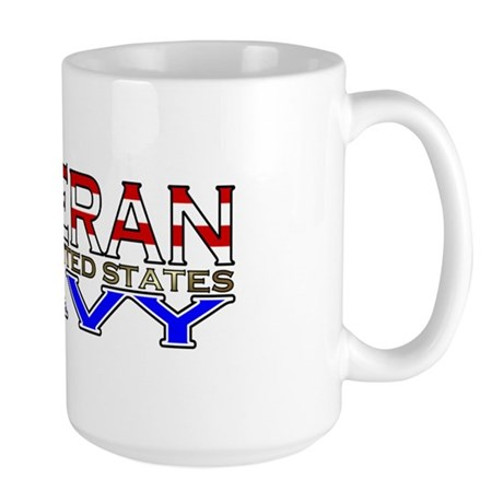 US Navy Veteran Large Mug