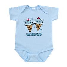Ice Cream We're 2 Boys Infant Bodysuit