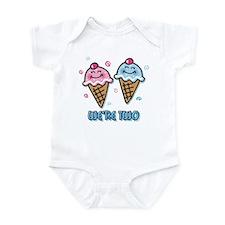 Ice Cream We're 2 Boy & Girl Infant Bodysuit
