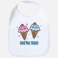 Ice Cream We're 2 Boy & Girl Bib
