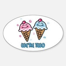 Ice Cream We're 2 Boy & Girl Decal