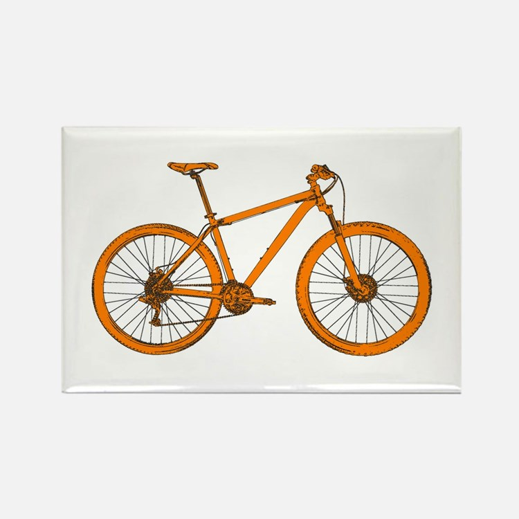 Cute Cycling Rectangle Magnet (100 pack)