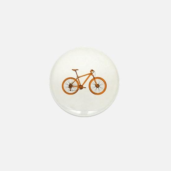 Unique Mountain biker Mini Button