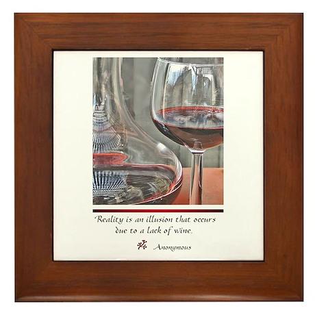Wine - Lover's Framed Tile