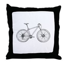Cute Mountain bike Throw Pillow