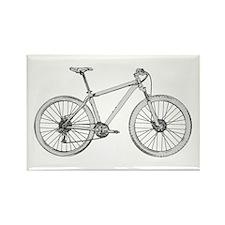 Unique Mountain biking Rectangle Magnet