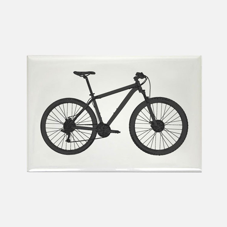 Cute Bicycling Rectangle Magnet (100 pack)