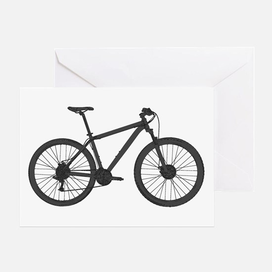 Cool Mountain bike Greeting Card