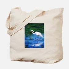 Cute Egret Tote Bag