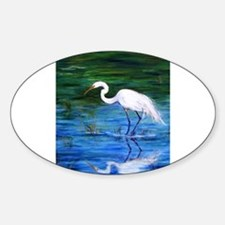 Cute Birds Sticker (Oval)