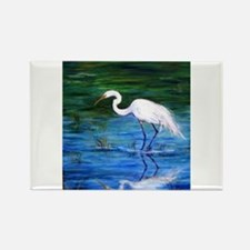 Unique Tropical birds Rectangle Magnet