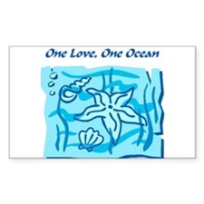 One Love, One Ocean Decal