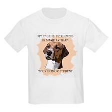 smart english foxhound Kids T-Shirt