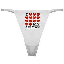 I Love My Airman Classic Thong