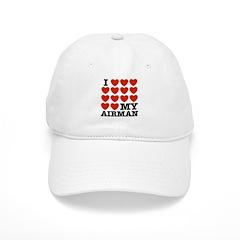 I Love My Airman Baseball Cap