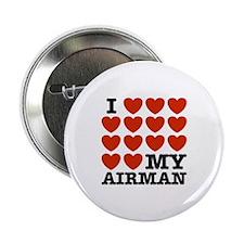 "I Love My Airman 2.25"" Button"