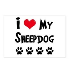 I Love My Sheepdog Postcards (Package of 8)