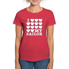 I Love My Sailor Women's Dark T-Shirt