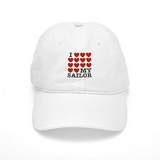 I Love My Sailor Baseball Cap