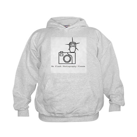 No Flash Photography Kids Hoodie
