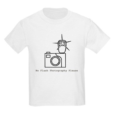 No Flash Photography Kids T-Shirt