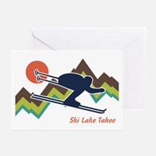 Ski Lake Tahoe Greeting Cards (Pk of 10)