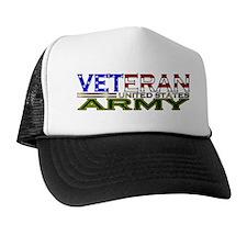 US Army Military Veteran Trucker Hat