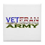 US Army Military Veteran Tile Coaster