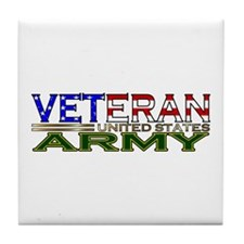 US Army Military Veteran Tile Coaster