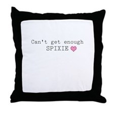 Spixie Can't Get Enough Throw Pillow