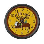 Welcome Elk Wall Clock