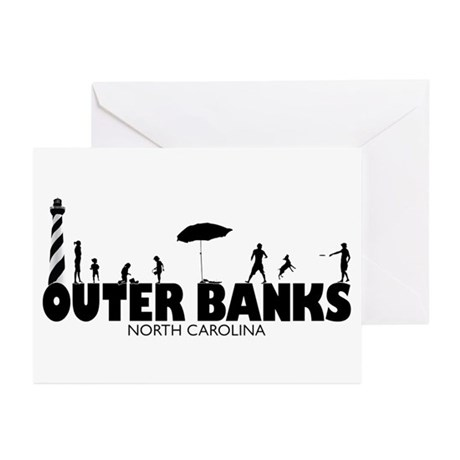 OUTER BANKS - family fun Greeting Cards (Pk of 20)
