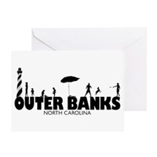 OUTER BANKS - family fun Greeting Card