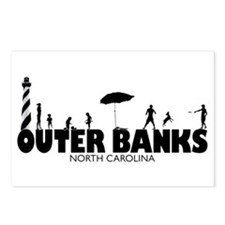 OUTER BANKS - family fun Postcards (Package of 8)