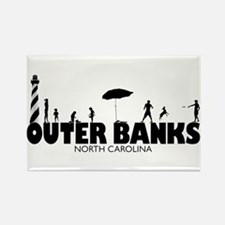 OUTER BANKS - family fun Rectangle Magnet