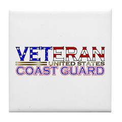 US Coast Guard Veteran Tile Coaster